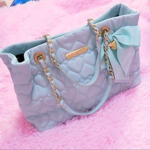 Large Betsey Johnson Quilted Hearts Tote